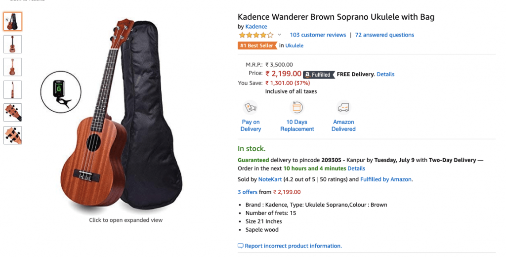 Kadence Best Selling Ukulele Amazon India