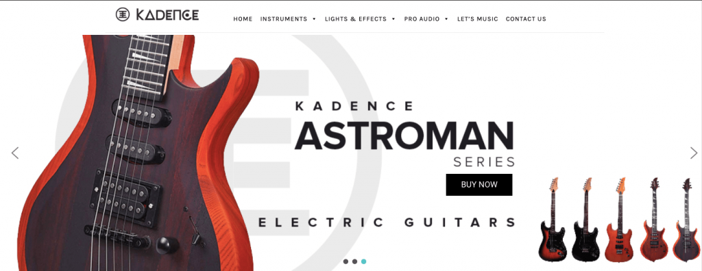 Kadence Guitars Website India