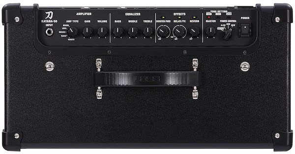 Boss Katana 50 Watts Amp Top View - 9 Best Guitar Amplifiers in India (2020)