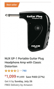 NUX GP 1 Portable Guitar Plug Headphone Amp 184x300 - 9 Best Guitar Amplifiers in India (2020)