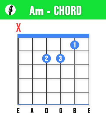 Am Guitar Chord - Learn These 11 Basic Guitar Chords To Play Any Song - Beginners Guide